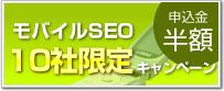 新サービス!モバイルSEOを導入される企業様10社限定キャンペーン実施中。申込金が半額!